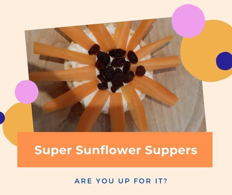 sunflowers arranged on a plate