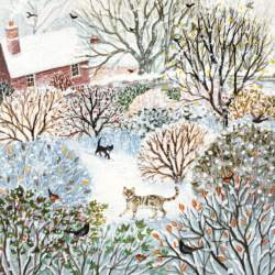 Cottage in the snow Christmas cards