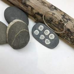 Fossil Fibula Brooch by Bronwen Gwillim