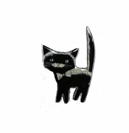 Black Cat Brooch - Ellymental