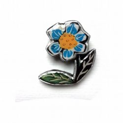 Blue Flower Brooch - Ellymental