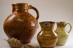 Harvest jugs as part of the folk art exhibition