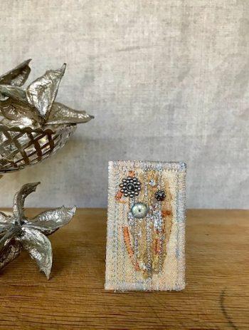 Kathy Badcock - Textile brooch