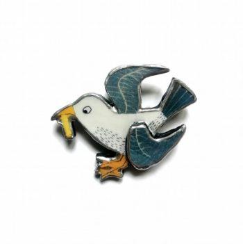 Naughty Seagull Brooch - Ellymental