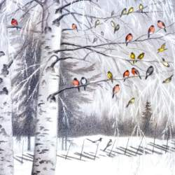 New Year Guests Christmas Cards 5 pack