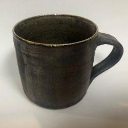 Popalini & Jezando Wood-fired handled dark mugs