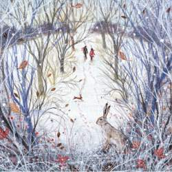 Snowy Walk - Christmas Cards - Pack of 8