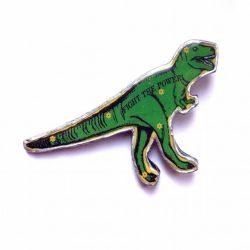 T Rex - Green - Brooch - Ellymental