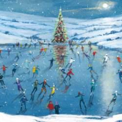 Winter Skating - Christmas Cards- 5 pack
