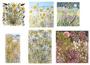Printmakers - card bundle - Angie Lewin - option 2